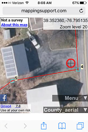 Aerial with property lines